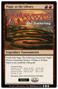 Magic the Gathering Tournament @ Dexter Community Library